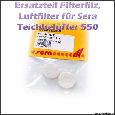 Ersatzteil 06735 Filterfilz als Luftfilter für Sera Pond Air 550 R Plus Teichluftpumpe