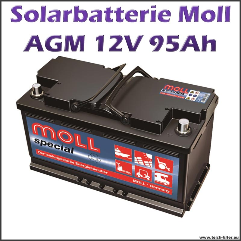 solarbatterie 95 100ah 12v agm moll f r garten haus und. Black Bedroom Furniture Sets. Home Design Ideas