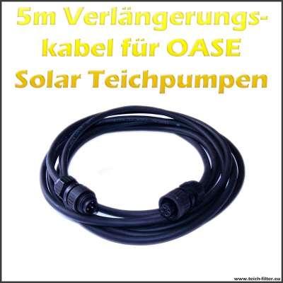 12V Verlängerungskabel 5 m Länge für Oase Solarpumpen