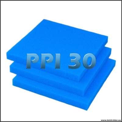 3 feine Filterschäume in 30 PPI und 50 x 50 x 5 cm je Schaumplatte