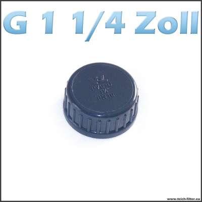G 1 1/4 Zoll Verschlusskappe aus Kunststoff für Rohre