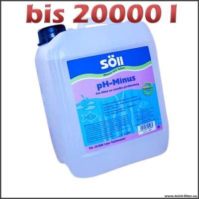 5 l Söll pH-Minus für bis zu 20000 l Teichwasser