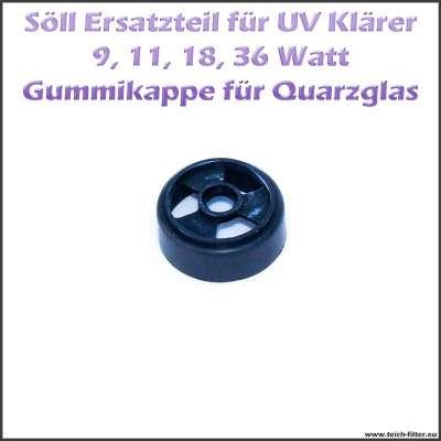 15761 Gummikappe als Schutz für Quarzgläser der Söll UV Klärer