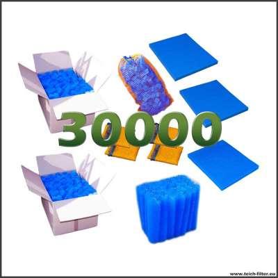 Set mit Filtermaterial für Aussenfilter bis 30000 Liter Teichwasser