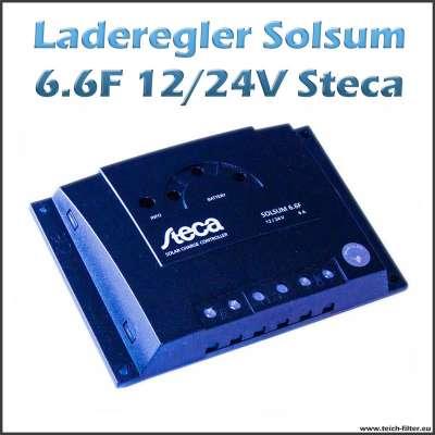 Steca Solar Laderegler Solsum 6.6F 12V-24V 6A für Inselanlagen im Wohnmobil