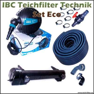 Technik Set Eco für IBC Teichfilter bis 150000 Liter