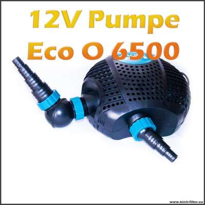 12V Teichpumpe Eco O-Plus LV 6500 für Schwimmteich