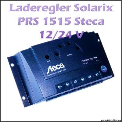 Steca Solar Laderegler Solarix PRS 1515 für 12V bis 24V und 15A an Photovoltaik Anlagen