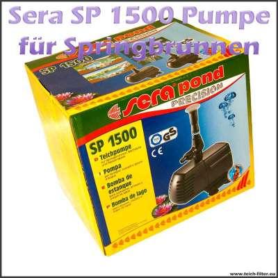 Teichpumpe für Springbrunnen Sera SP 1500 mit Düsenset