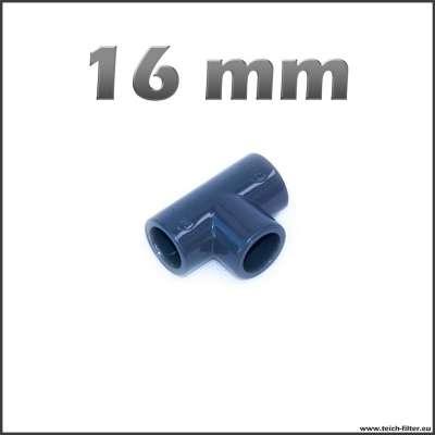 16 mm T-Stück aus PVC Kunststoff