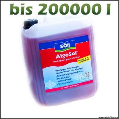 10 l Söll Algosol für bis zu 200000 l Teichwasser gegen Algen