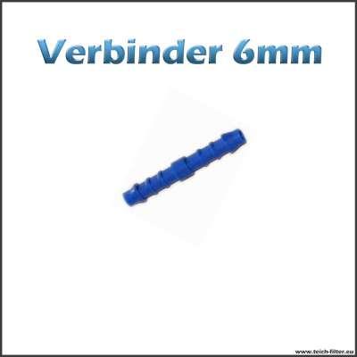 6 mm Verbinder aus Kunststoff für Schlauch