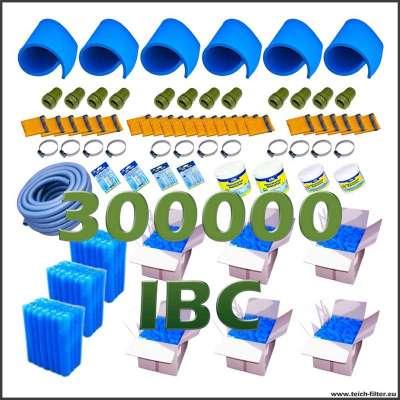 Set mit Filtermedien für Teichfilter aus 3 IBC Container bis zu 300000 Liter Wasser
