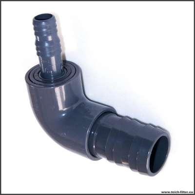 90 Grad Schlauchverbinder 20 x 40 mm (3/4 x 1 1/2 Zoll) PVC