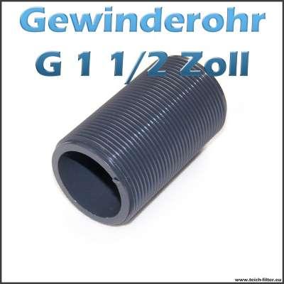 Gewinderohr als Hülse aus PVC Kunststoff mit G 1 1/2 Zoll Aussengewinde als Tankdurchführung