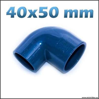 40 x 50 mm Winkel aus PVC Kunststoff für Wasser