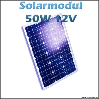 Solarmodul 50W monokristallin 12V für Teich und Pool