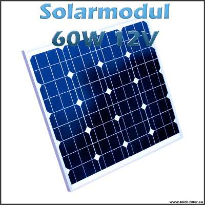 solarmodul 60w 12v monokristallin f r camping wohnmobil. Black Bedroom Furniture Sets. Home Design Ideas