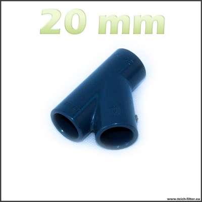 20 mm Y-Verteiler PVC für Teich