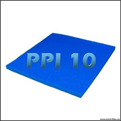 Filtermatte 10 PPI mit 100 x 100 x 5 cm für Teiche