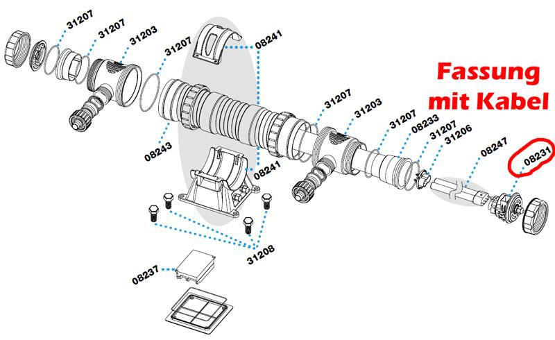 sera-pond-24w-uvc-system-ersatzteil-fassung-kabel-08231