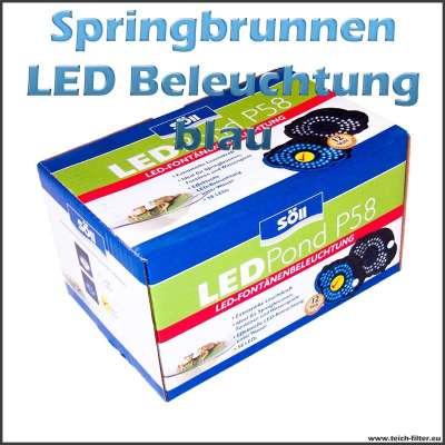 Springbrunnen LED Beleuchtung 12V Söll blau