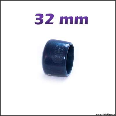 32 mm Klebekappe aus PVC Kunststoff