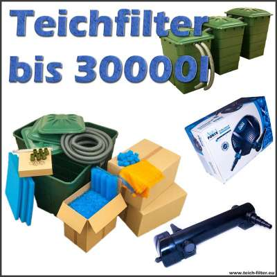 teichfilter 30000 liter eco 12 volt mit pumpe und uvc. Black Bedroom Furniture Sets. Home Design Ideas