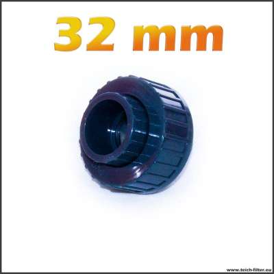 32 mm Kunststoff Verschraubung mit Überwurfmutter und Zollgewinde