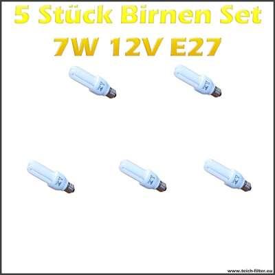 5 Stück Set 7W 12V Birnen mit E27 Fassung für Solaranlagen günstig kaufen