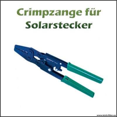 Crimpzange universal für Kabelschuhe, Aderendhülsen und Solarstecker