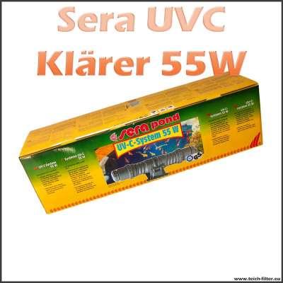 55 Watt UVC Klärer Sera für Teichfilter bis 50000 Liter Wasser