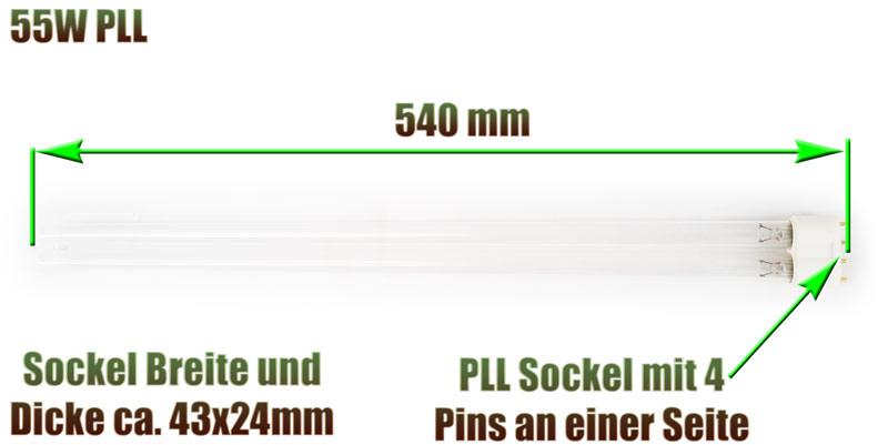 uvc-ersatzlampe-pll-eco-philips-sockel-540-mm-55-watt-klaerer-koi-professional-osaga-edelstahl-xclear-aquaforte-oase-sera