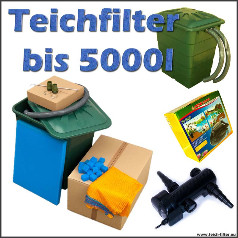 teichfilter 5000 liter eco mit pumpe und uvc. Black Bedroom Furniture Sets. Home Design Ideas