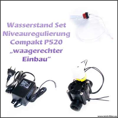 24V AC Niveauregulierung Set Compact P520 für Wasserstand mit Scharnierkontakt