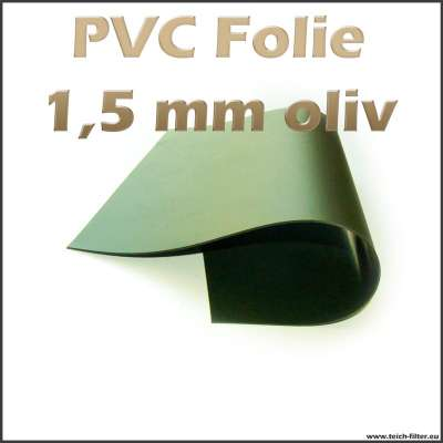 Oliv grüne PVC Teichfolie mit 1,5 mm Dicke