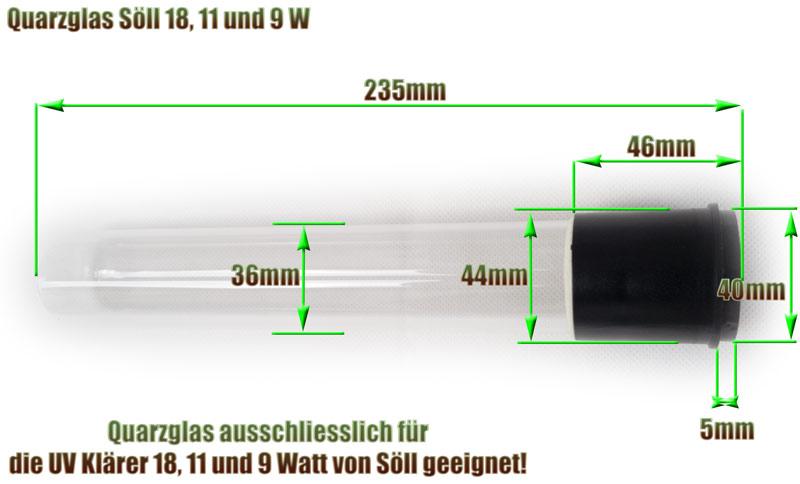 quarzglas-soell-18-11-9-watt-uv-klaerer-ersatz-abmessung-235mm-laenge-glasrohr