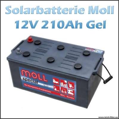 Moll Gel Solarbatterie 12V mit 210-235Ah Kapazität für Garten und Camping