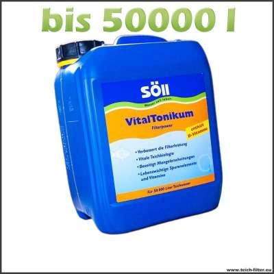 Mit 5l Söll Vitaltonikum die Filterleistung bis 50000 l Wasser erhöhen