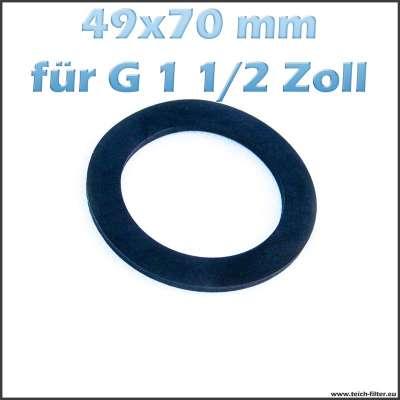 49 x 70 mm Dichtung aus Gummi für G 1 1/2 Zoll Gewinde