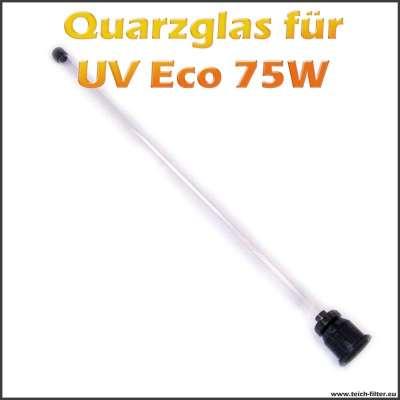 Quarzglas für Eco Edelstahl UV Klärer 75W