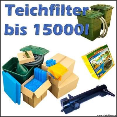 Teichfilter bis 15000 Liter Eco mit Pumpe und UVC